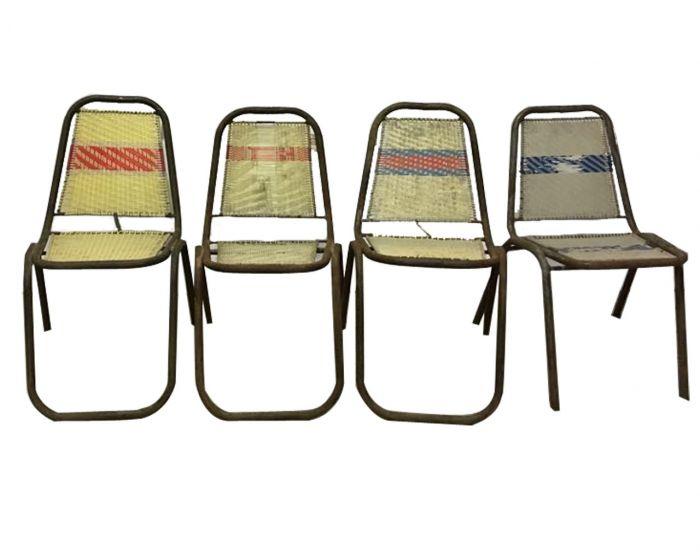 Sedie In Ferro Vintage.Sedia Vintage