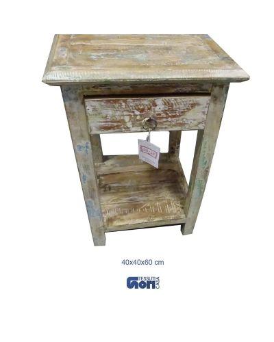 tavolino comodino con cassetto