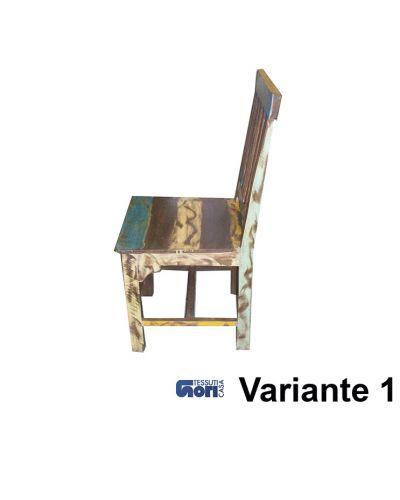 Sedia in legno colorato