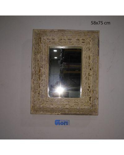 Specchio in legno intarsiato n47