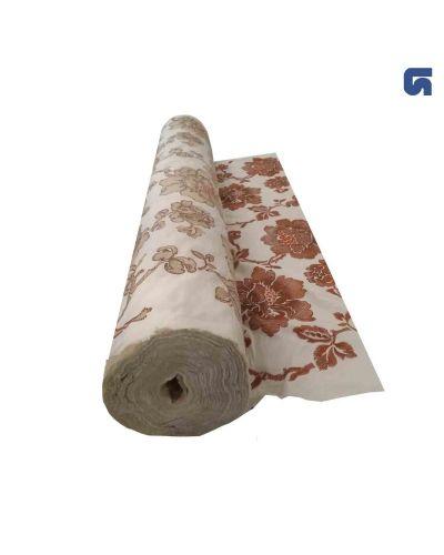 Tessuto floreale ricamato 100% cotone per tende o abbigliamento
